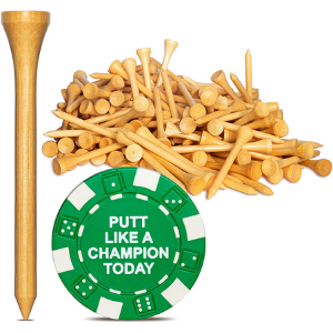 Wedge Guys PGA Approved Professional Bamboo Golf Tees