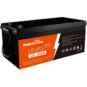 Ampere Time 12V 300Ah Lithium Iron Phosphate LiFePO4 Deep Cycle Battery